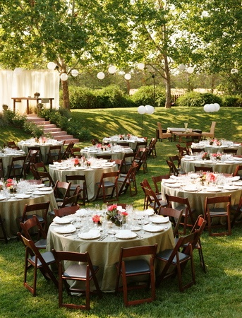 Reception, Pink, White, Decor, Wedding, Farm, Paper lanterns