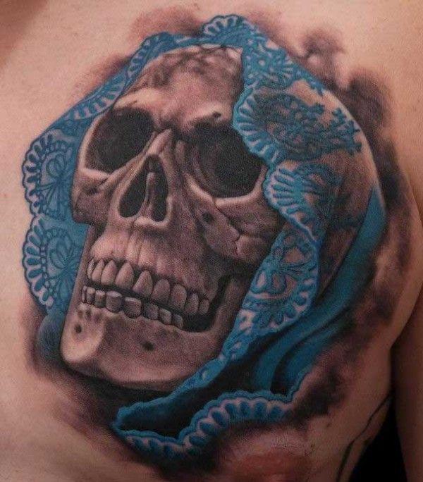 Skull-By-Nicklas-Westin love the scarf detail