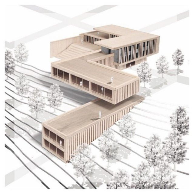 Awesome #design and #render by @kris_saakyan #architecture #project #architecturalmodels #style #visualization #wood #woodmodels #model #rendering #archilovers #archidaily #architects #archilife #love #arcfly