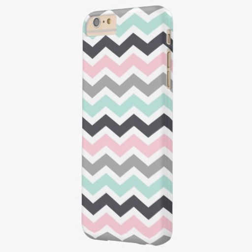 Cute iPhone 6 Case! This Pink Teal Black Gray Zigzag Chevron Pattern Barely There iPhone 6 Plus Case can be personalized or purchased as is to protect your iPhone 6 in Style!