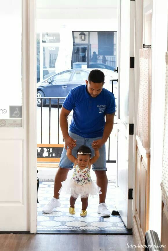 Tahj Mowry with his niece Ariah Housley