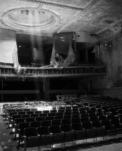 Cool looking abandoned theatre ... the other b&w pics in the set are epic too