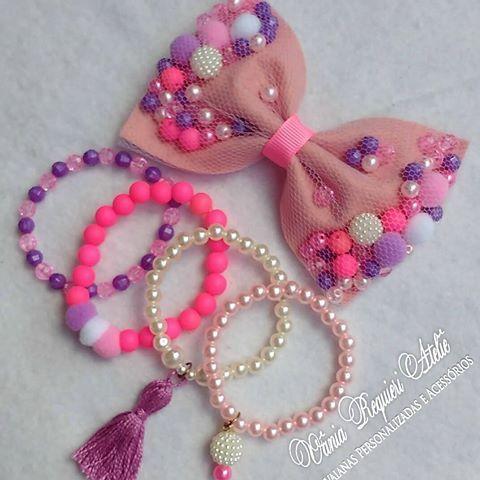 e1f3a3295b8136 Kit muito delicado...❤fiz pensando naquelas princesas que amam rosa ...