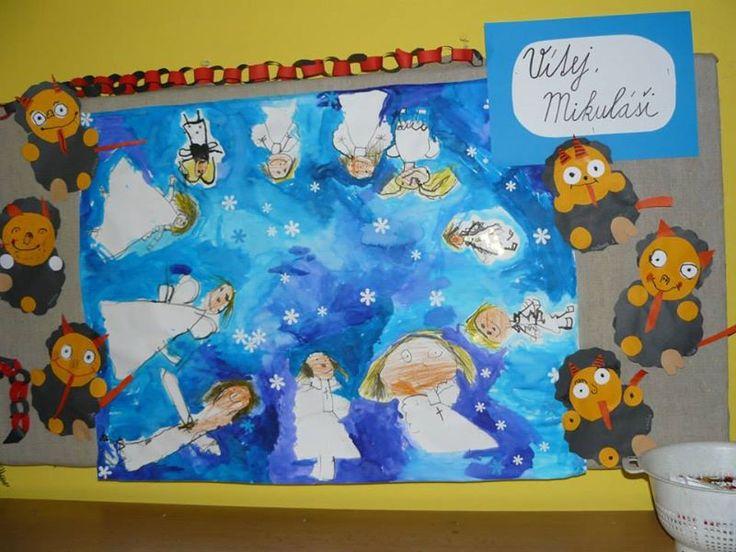 Mikuláš - čerti a andělské nebe