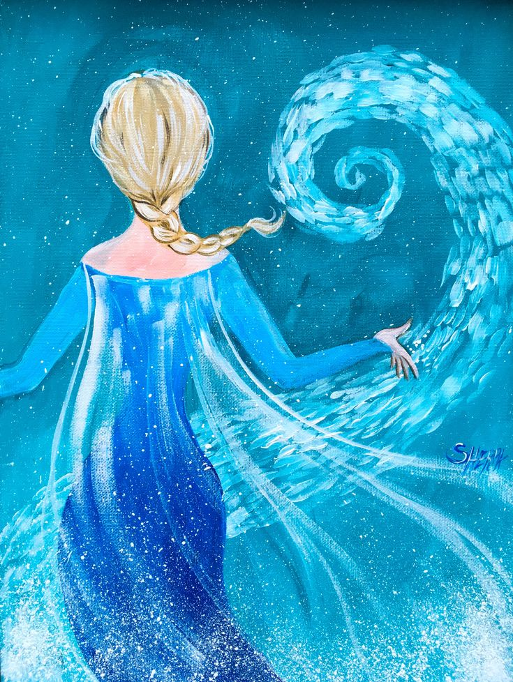 elsa from frozen easy painting tutorial free on youtube learn several fun painting methods in - Free Painting Pictures