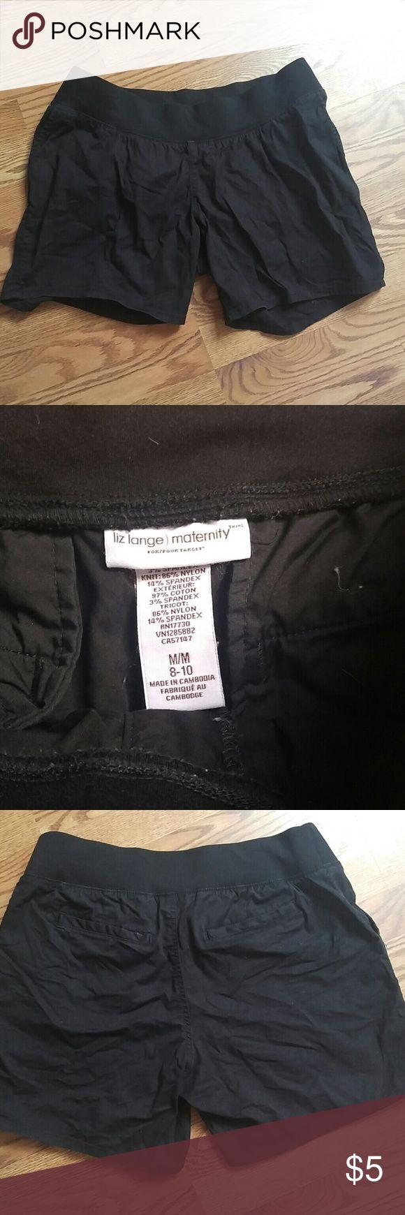 Maternity shorts Black maternity shorts Liz Lange Shorts