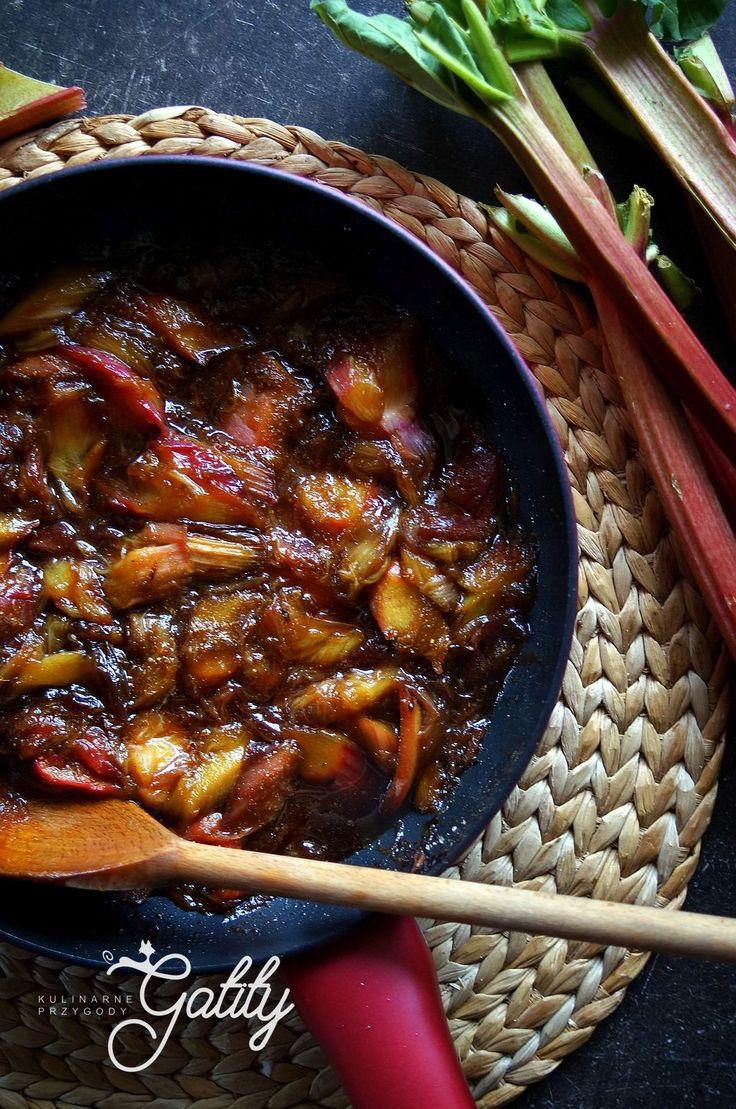 Kulinarne przygody Gatity - przepisy pełne smaku: Karmelizowany rabarbar