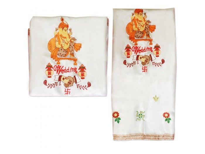 Wedding Ganesha Handshake Antarpat, Buy Antarpat online from India.