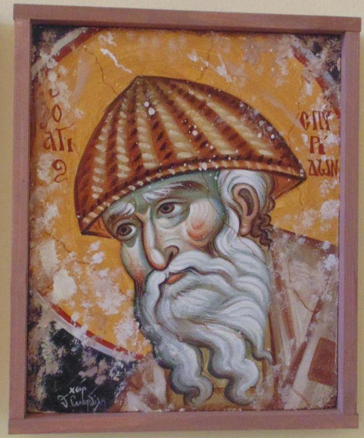 ο Άγιος Σπυρίδων αντίγραφο Μανουήλ Πανσέληνου  by theologos Skondilis