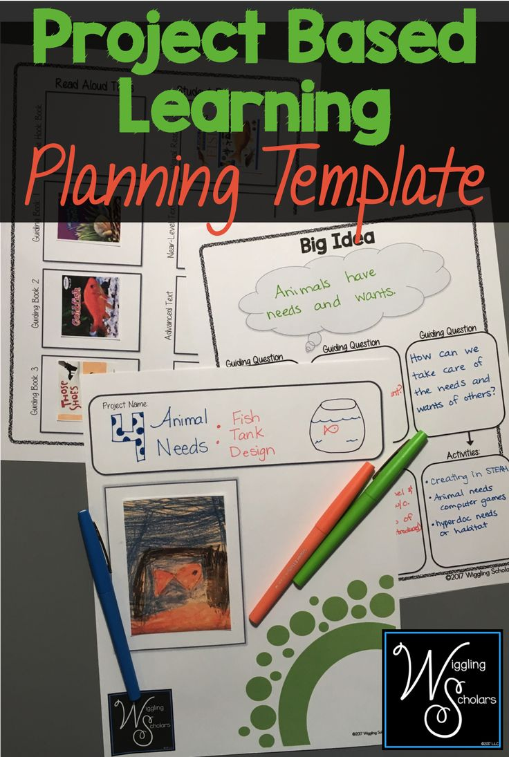 this project based learning  pbl  template helps you with backwards design and works with any