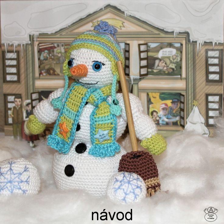 Sněhuláček pořádníček/The snowman Návod na háčkování/Crochet pattern and tutorial
