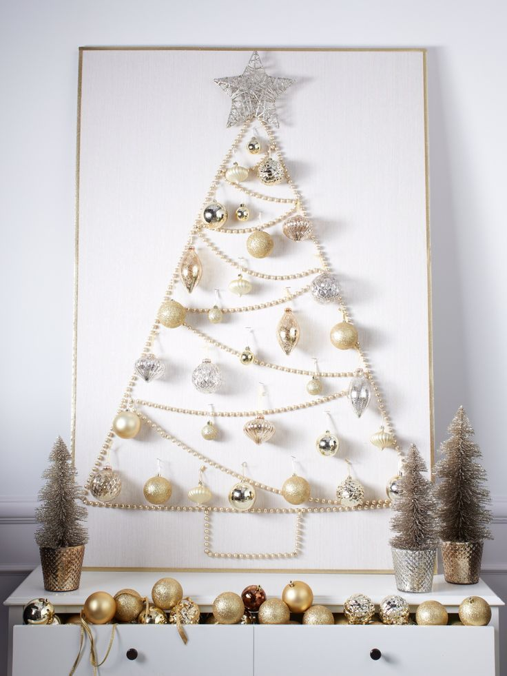 Create this chic and modern Christmas tree with just a few items found at your local department store.