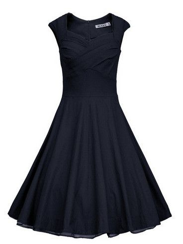 Retro Audrey Hepburn 50s Dress Women Vintage Solid Robe Party Dresses Summer Sleeveless Cocktail Plus Size S-XXL Vestidos D51119