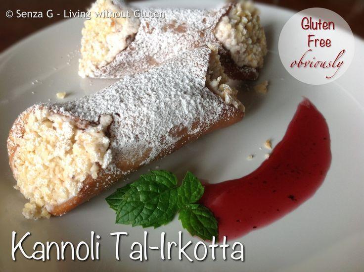 Gluten Free Kannoli Tal-Irkotta (Ricotta Cannoli)