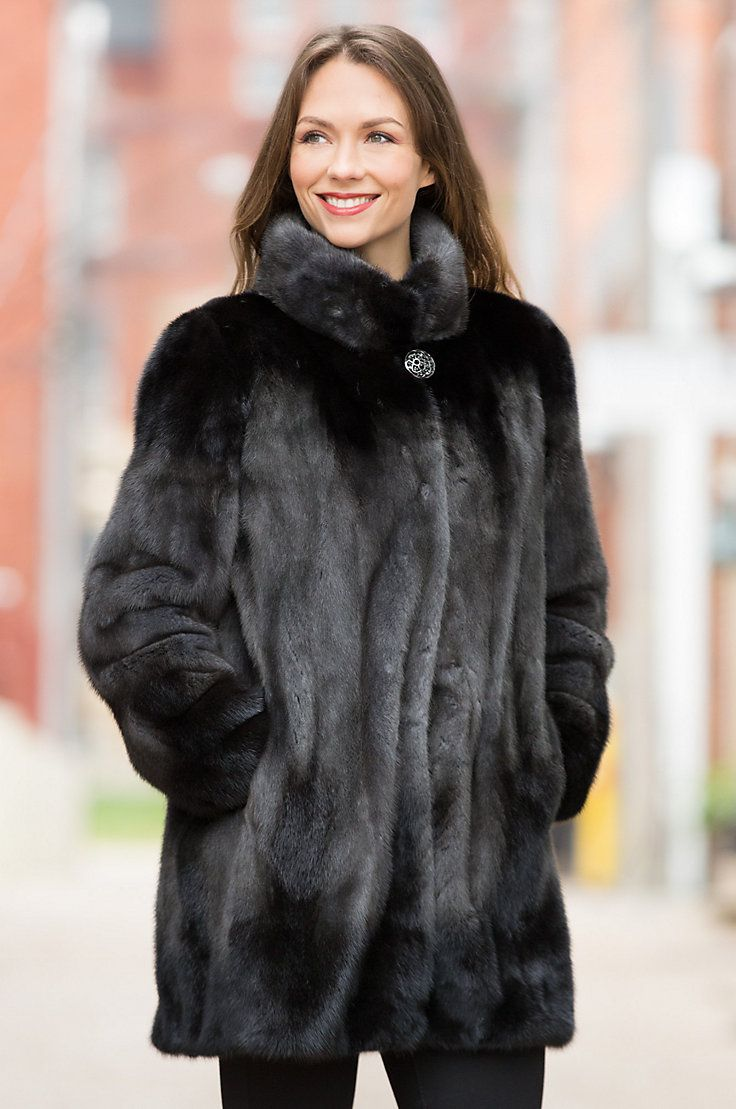 For the woman of discriminating taste, the Delilah Mink Fur Jacket is a triumph in winter fashion.
