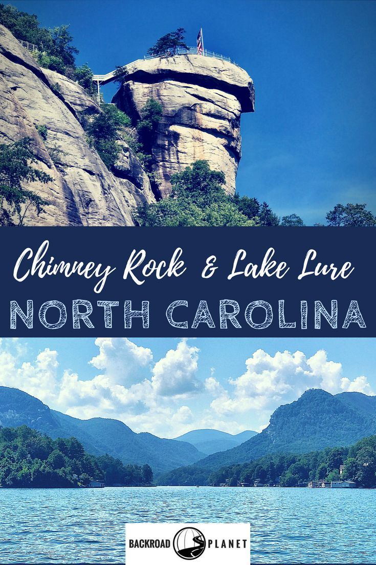 The scenic beauty of Chimney Rock State Park and Lake Lure, North Carolina, USA, has made the region not only a frequent motion picture location, but also a favorite destination for hiking, boating, waterfall-chasing, and the annual Dirty Dancing Festival! #travel #TBIN #Chimney Rock #LakeLure #NorthCarolina #DirtyDancing #movielocation via @backroadplanet