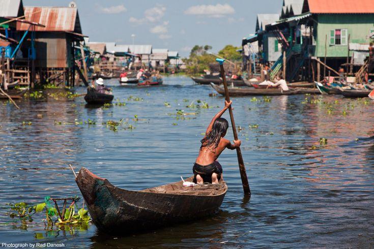 Tonle Sap's floating village, Combodia