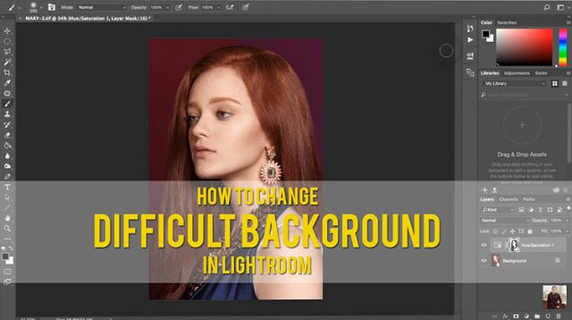 How to Change Difficult Background Colors   In This Short Editing Tutorial Jeff Rojas Guides You Through a Simple Way of Changing the Color of Backgrounds Colors With Similar Colors to Your Foreground.  More flash photography lighting video tutorials techniques and tips with Jeff Rojas:  5 Things That Define a Strong Male Image  How to Create a Black and White Photo Using the Camera Raw Filter  How to Turn Exposure into $$$  Our Favorite ONE LIGHT SETUPS! by Jeff Rojas and Miguel Quiles…