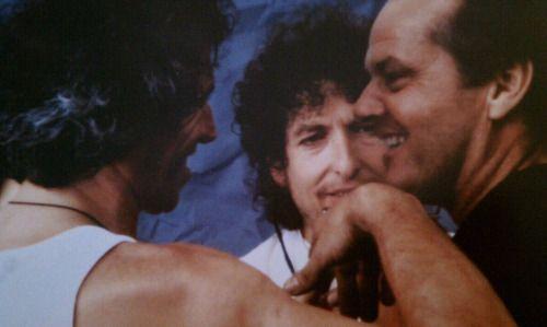 Jack Nicholson, Keef and Bob Dyland, 1985