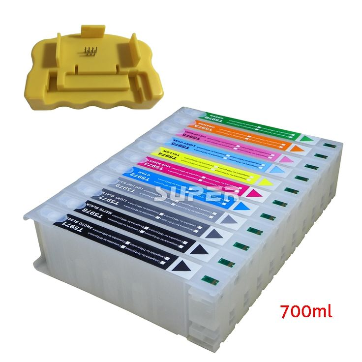 158.00$  Buy here - http://ali4xu.worldwells.pw/go.php?t=32398844577 - For Epson 7900 9900 refillable ink cartridges 700ML T6361/T6362/T6364/T6365/T6366/T6367/6368/6369/636A/636B  + chip resetter 158.00$