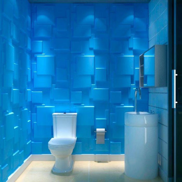 Panneau mural 3d salle de bains avec panneaux d coratifs for 3d salle de bain