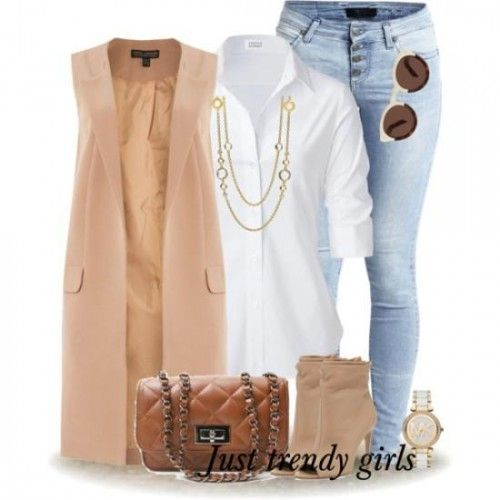 long beige vest classy work style, Spring work outfits for women http://www.justtrendygirls.com/spring-work-outfits-for-women/