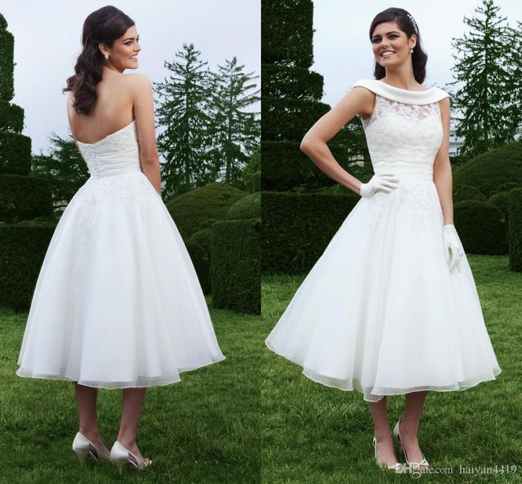1000 images about short wedding dresses cheap price on for Tea length wedding dress with bolero jacket