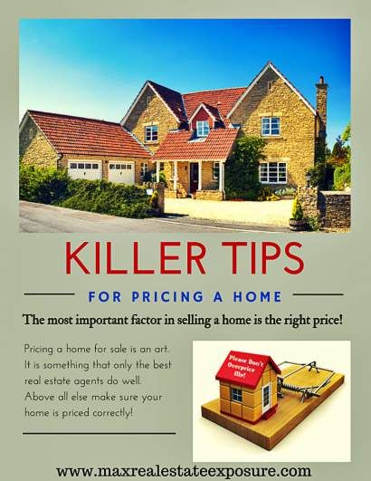 Killer Tips For Pricing a Home For Sale: http://www.maxrealestateexposure.com/factors-to-consider-when-pricing-a-home-for-sale/ #realestate