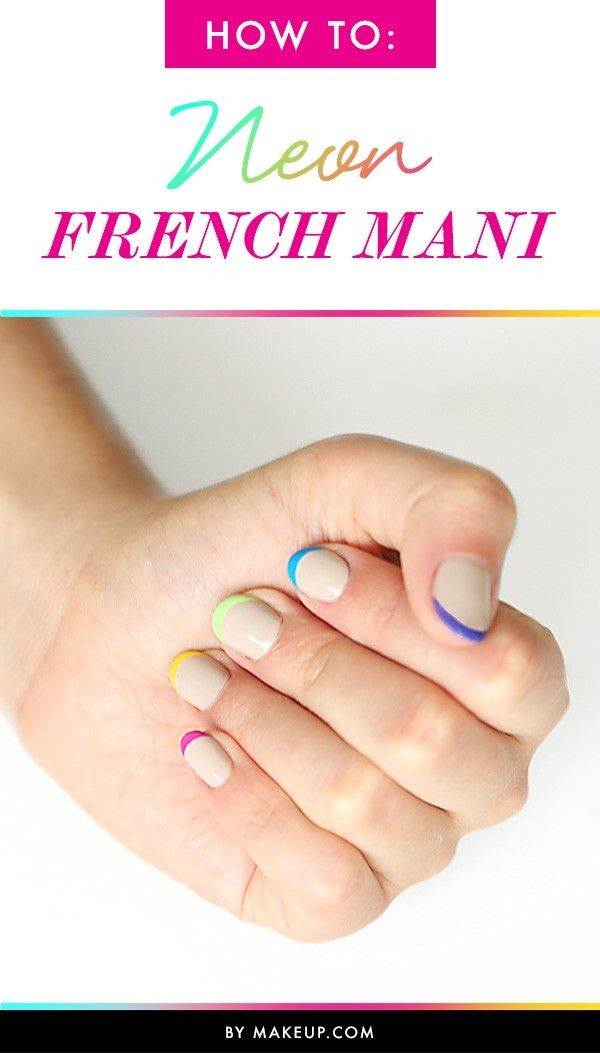Celeb nail artist Kait Mosh delivers a neon French manicure that is perfect for summer.