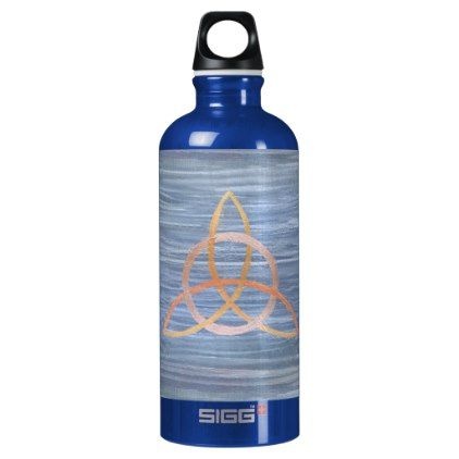 Inquisitive Bar | Celtic Trinity Knot Triquetra Aluminum Water Bottle - modern gifts cyo gift ideas personalize