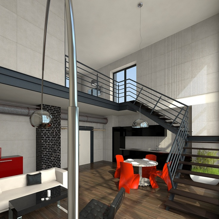 #Lofts, Ząbkowska St by @Koneser #interior #staircase