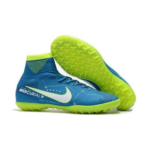 Nike Mercurial Superfly V SX Neymar TF Womens Soccer Shoes Blue