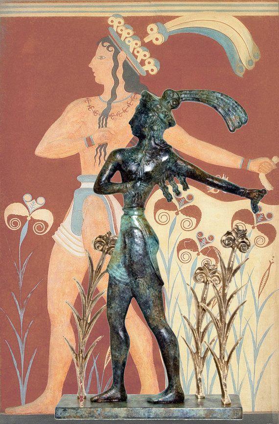 Greek Sculpture Cretan Minoan Bronze Sculpture by GreekMythos