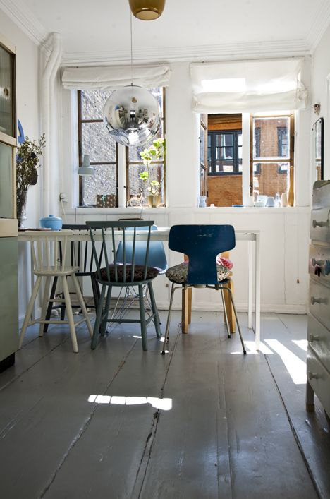17 best ideas about mismatched chairs on pinterest - Kitchen and dining area design crossword ...