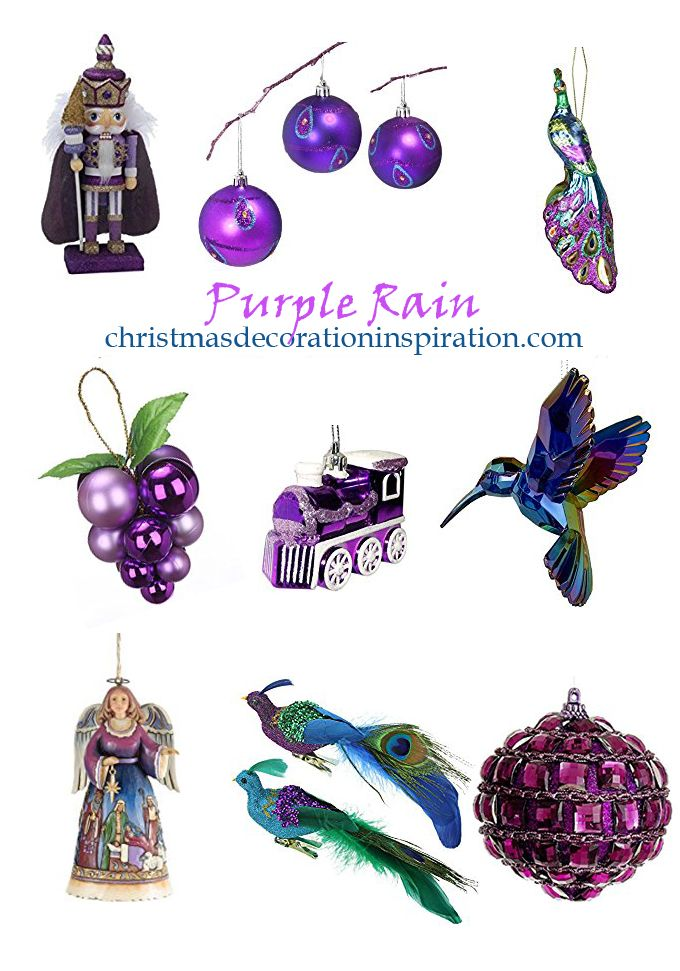 Over 65 Purple Christmas Ornaments from Christmas Decoration Inspiration