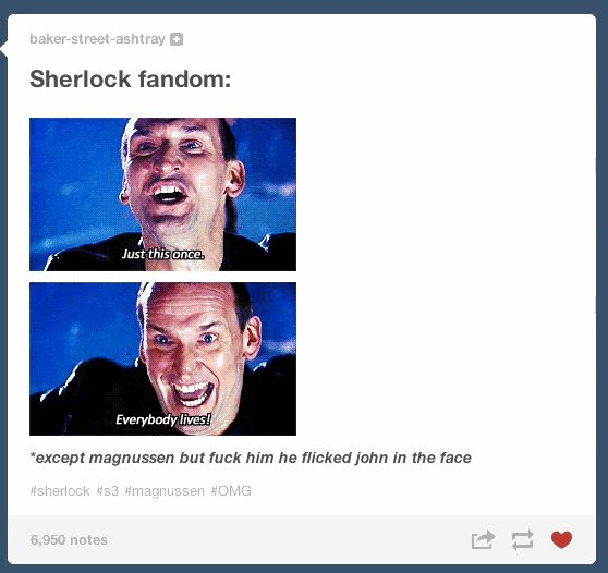 "The ""Sherlock"" Season 3 Finale Caused Tumblr To Self-Destruct. click through for spoilers,I like this pic better. lol"