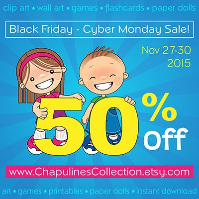 Chapulines Collection: Black Friday - Cyber Monday Sale 2015!