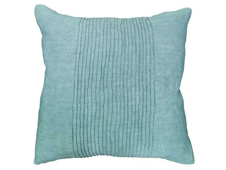 Virginia Pleated Duck Egg Cushion - A delicately pleated linen cushion in a beautiful duck egg blue colour. Also available in a range of complementary colours.