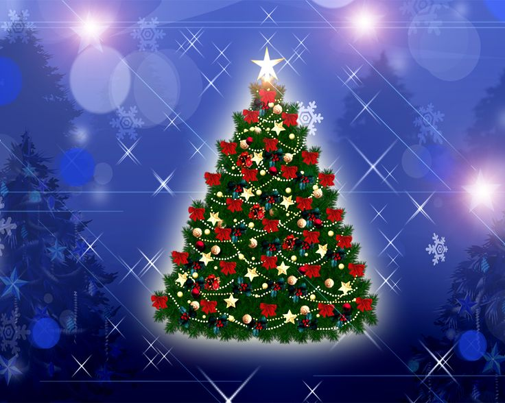 Wallpapers And Images Photos 3d Christmas Tree Animated