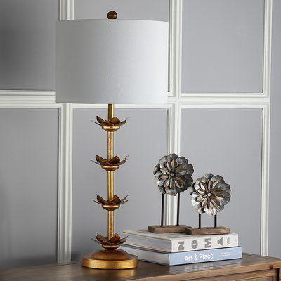 """House of Hampton Ilkeston Leaf 32"""" Table Lamp"""