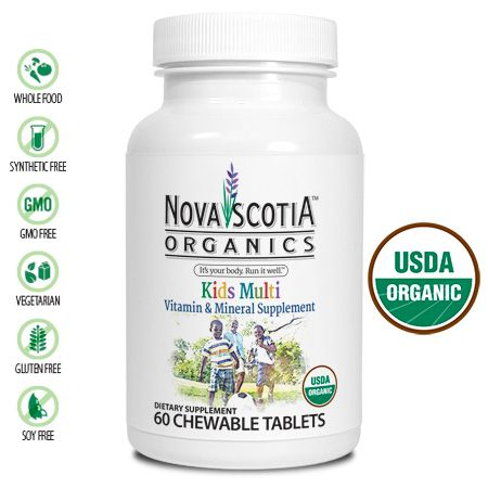 Certified Organic, GMO Free , Vegan Food Based Multivitamins & Minerals for Kids