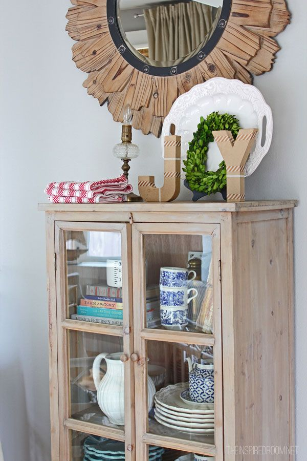 Small Dish Cabinet for Extra Storage