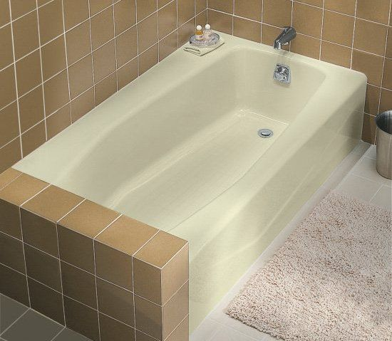 Kohler k 715 0 bath tubs bathtubs and search for Deep alcove bathtubs