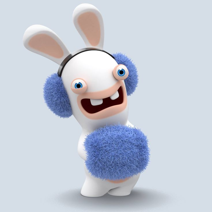 Where did the Rabbid get his fur from for his ear muffs & hand warmer muff??