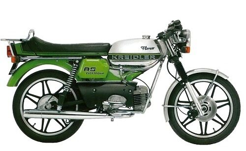 Kreidler was a German manufacturer of small motorcycles and mopeds. The company went out of business in 1982. Garelli Motorcycles make mopeds under the Kreidler name until 1988. The rights to the Kreidler mark have since been bought by bicycle manufacturer Prophete. #LostBrands