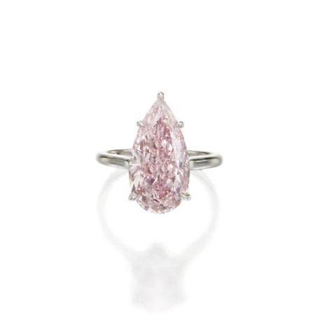 Fancy Intense Pink Diamond Ring. 6.32 carats