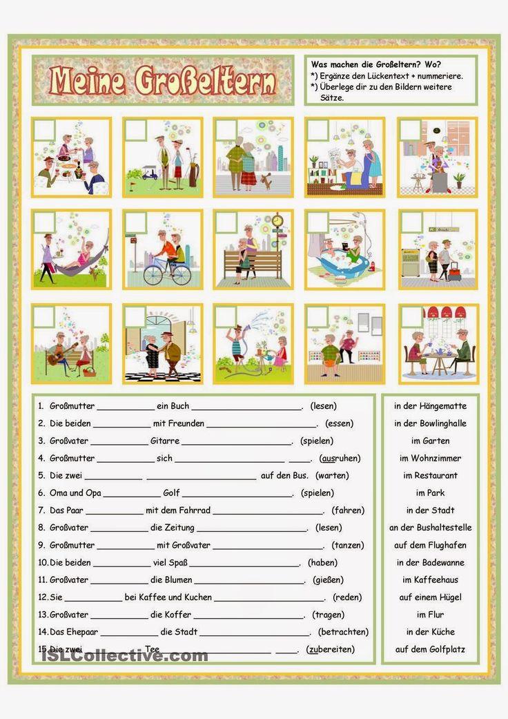 Deutsch mit Frau Virginia D'Alò: Die Familie: Wortschatztafeln und Übungen
