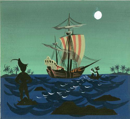 Mary Blair concept artwork for Disney's Peter Pan