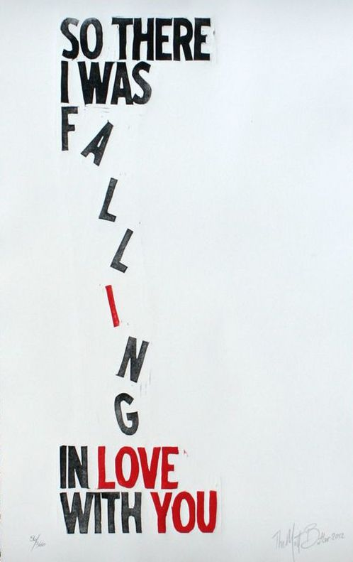 Falling in Love Print, cliché but cute ^__^