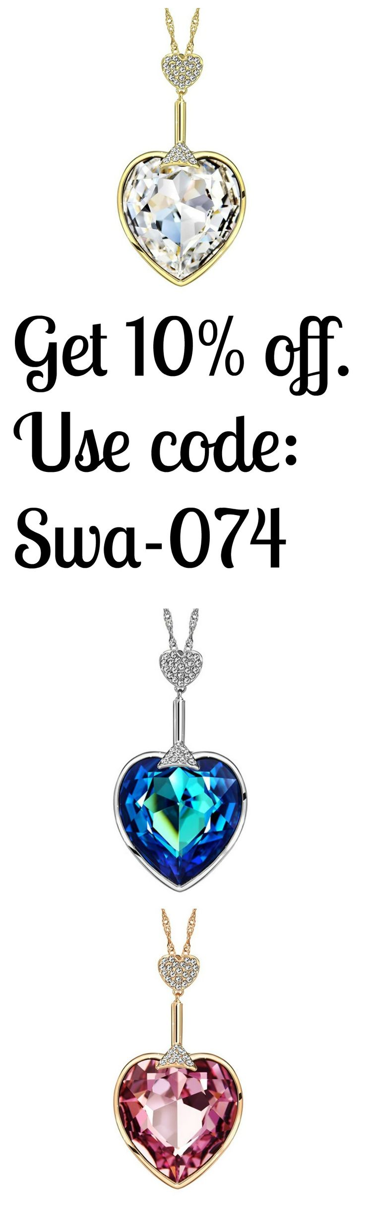 Go to Ziphlets to get these incredible  Swarovski heart necklaces. Get 10% off code: Swa-074